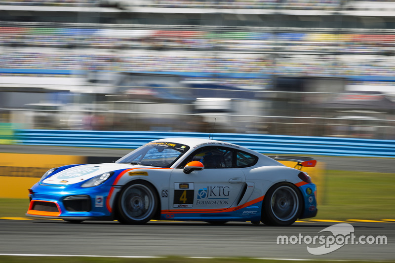 #4 Team TGM Porsche Cayman GT4 MR: Ted Giovanis, Guy Cosmo, Hugh Plumb