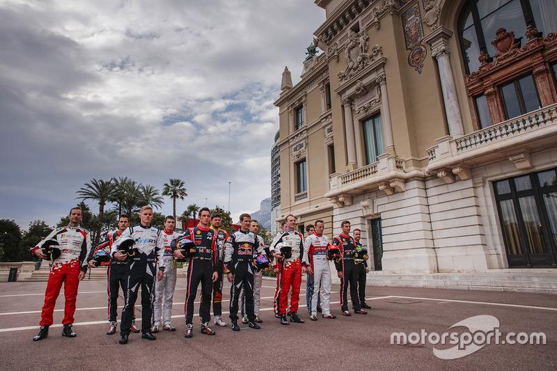 Foto de los pilotos del WRC