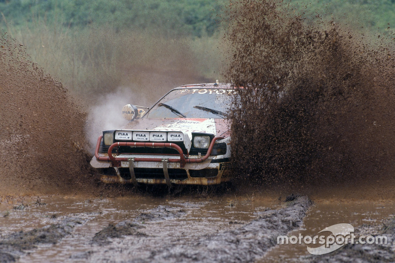 Carlos Sainz, Luis Moya, Toyota Celica GT4, en el Rally Safari Kenia 1990