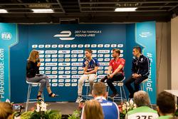 Conferencia: Robin Frijns, Amlin Andretti Formula E Team,  Nick Heidfeld, Mahindra Racing, Sébastien Buemi, Renault e.Dams