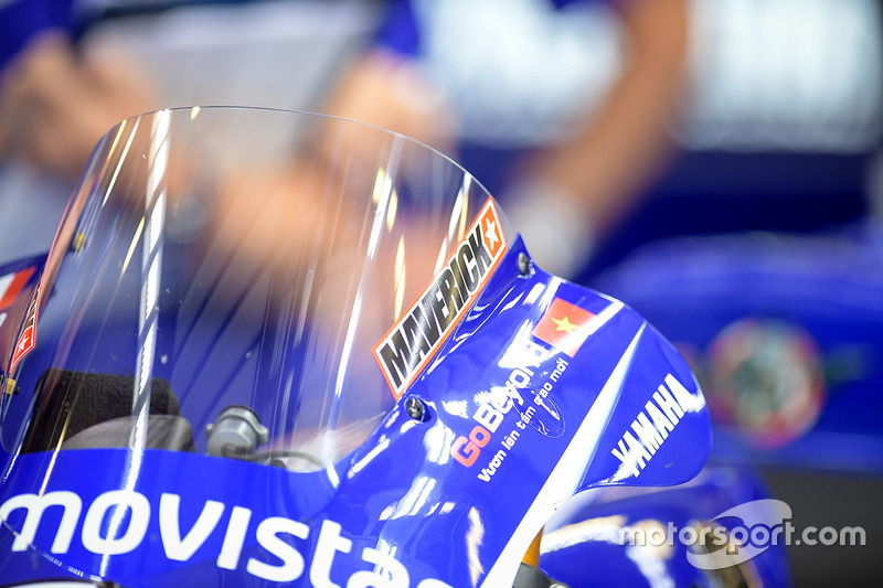 Деталь мотоцикла Маверіка Віньялеса, Yamaha Factory Racing