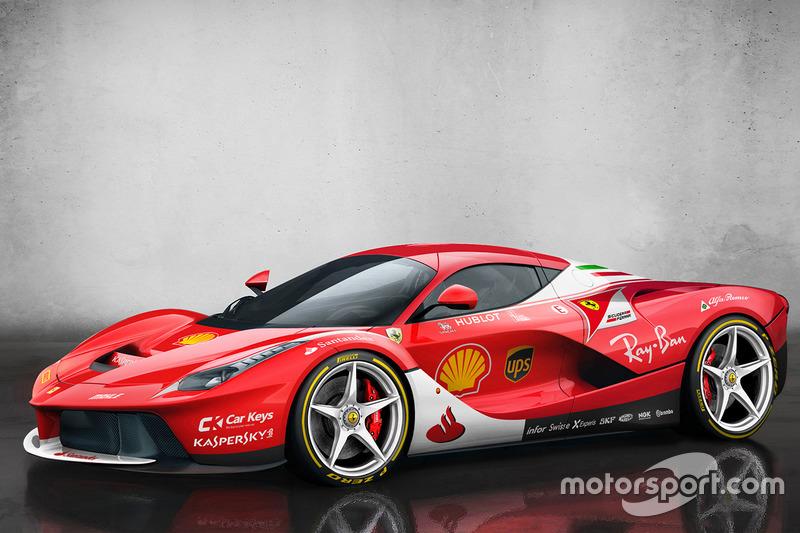 LaFerrari dengan corak Scuderia Ferrari