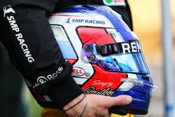 Шлем третьего пилота Renault Sport F1 Сергея Сироткина