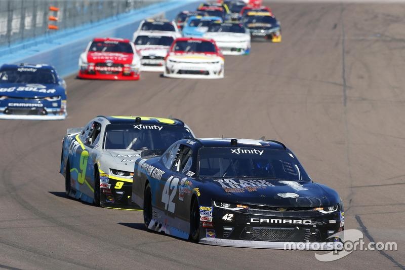 Tyler Reddick, Chip Ganassi Racing, Chevrolet; William Byron, JR Motorsports, Chevrolet