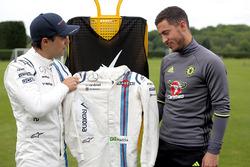 Felipe Massa, Williams con el jugador del Chelsea FC Eden Hazard