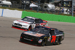 Sam Hornish Jr, Discount Tire Ford Mustang and Mike Harmon, Mike Harmon Racing Dodge