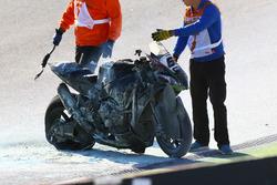 Bike von Tom Sykes, Kawasaki Racing, nach Sturz