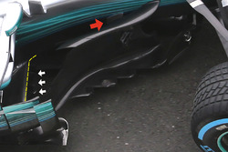 Mercedes AMG F1 W08 floor detail