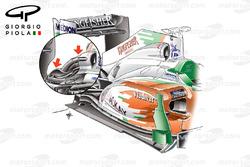 Force India VJM04 air intake, detailed