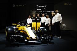 Nico Hulkenberg, Renault Sport F1 Team Jolyon Palmer, Renault Sport F1 Team and Alain Prost