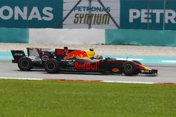 Max Verstappen, Red Bull Racing RB13, passes Lewis Hamilton, Mercedes F1 W08