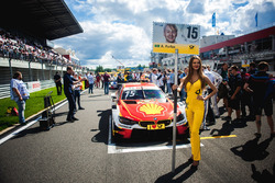 Grid girl of Augusto Farfus, BMW Team RMG, BMW M4 DTM