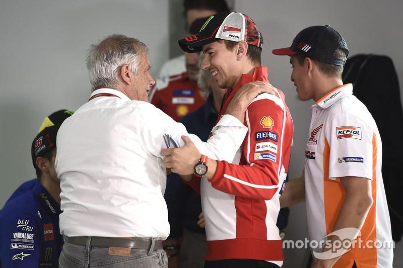 Jorge Lorenzo, Ducati Team, Giacomo Agostini