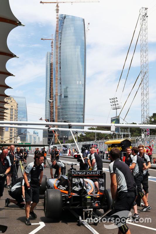 Ніко Хюлькенберг, Sahara Force India F1 VJM09, піт-стоп