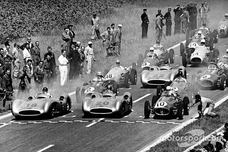 Juan Manuel Fangio et Karl Kling, Mercedes-Benz W 196 R