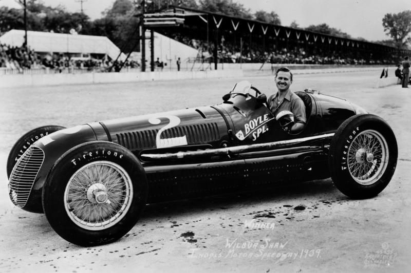 Le vainqueur Wilbur Shaw, Maserati