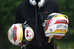 Helmets of Lewis Hamilton, Mercedes AMG F1 Team