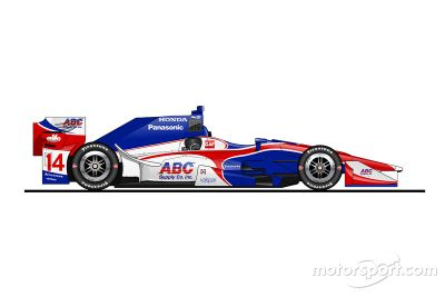 Die IndyCar-Autos 2016 als Zeichnungen