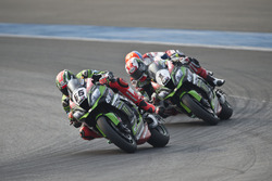 Tom Sykes, Kawasaki Racing Team en Jonathan Rea, Kawasaki Racing Team