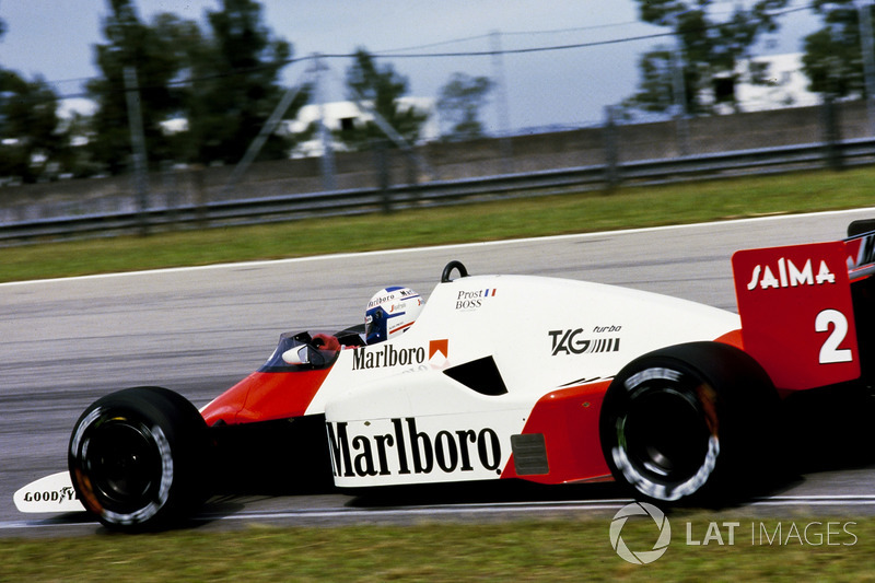 Ganador del GP de Brasil 1985: Alain Prost, McLaren MP4-2B