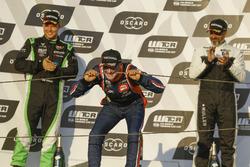 Podium: winnaar Gabriele Tarquini, BRC Racing Team Hyundai i30 N TCR