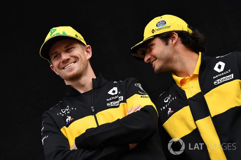Nico Hulkenberg, Renault Sport F1 Team y Carlos Sainz Jr., Renault Sport F1 Team