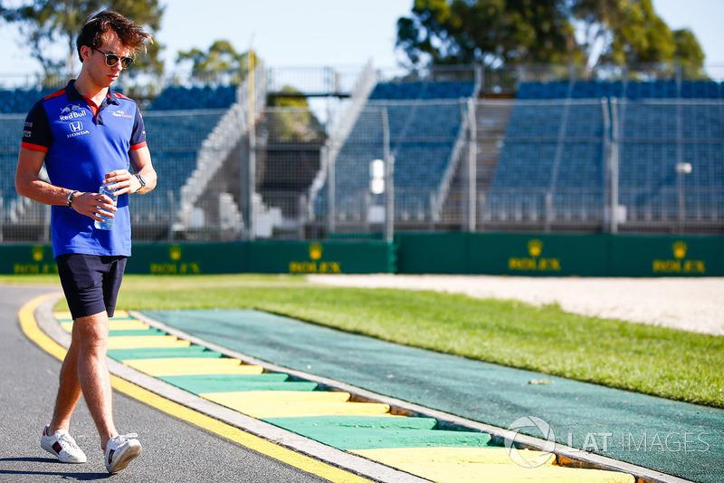 Track walk with Pierre Gasly, Scuderia Toro Rosso