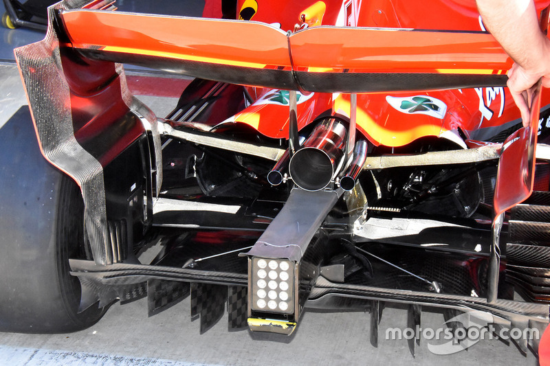 Ferrari SF71H rear and diffuser