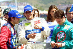 Race winner Ricardo Zonta, second place Franck Montagny, and third place Rafael Sarandeses