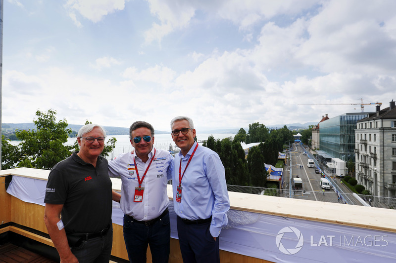 Alejandro Agag, CEO, Formula E, with Ulrich Spiesshofer, Cheif Executive Officer, ABB