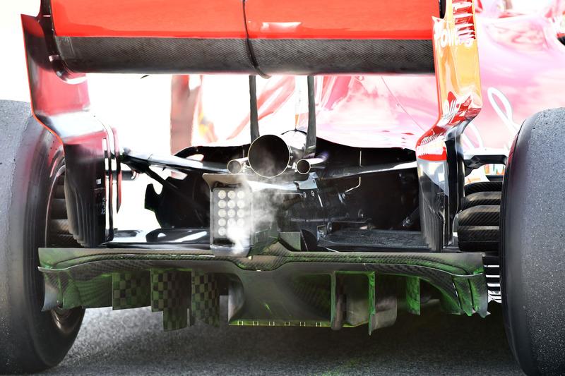 Ferrari SF-71H difusor trasero y pintura aerodinámica