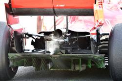 Ferrari SF-71H rear diffuser and aero paint