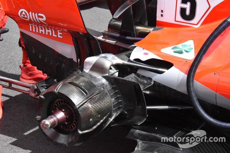 Suspensión trasera del Ferrari SF71H