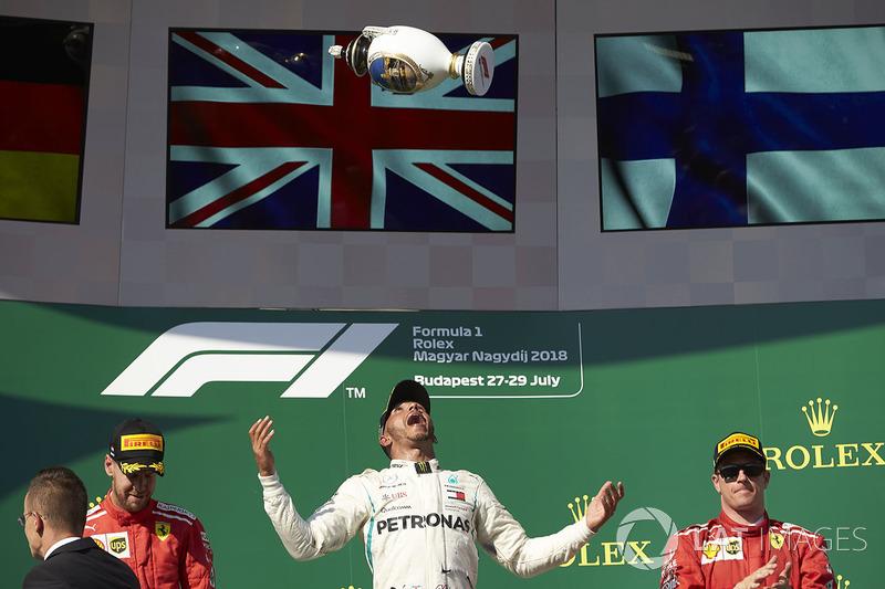 GP de Hungría: 1º Hamilton, 2º Vettel, 3º Raikkonen