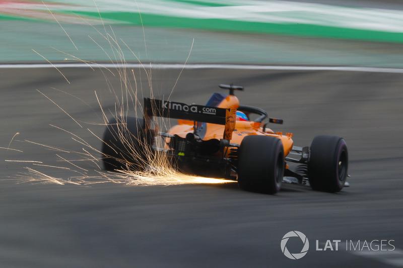 Kıvılcımlar, Fernando Alonso, McLaren MCL33 Renault