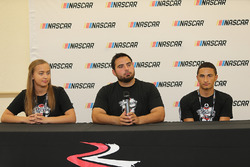 2017 NASCAR Drive for Diversity participants Brittany Zamora , Colin Cabre  and Ernie Francis Jr. at Bethune Cookman University