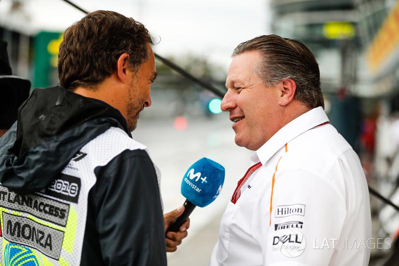 Zak Brown, Executive Director, McLaren Technology Group, is interviewed