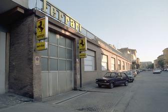 Modena 1989, garage Ferrari
