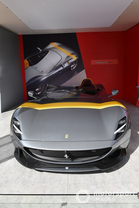 A Ferrari Monza SP1 on display