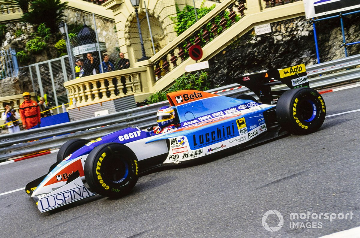 A little joy for Albo in a tragic season for Grand Prix racing - scoring sixth in Monaco for Minardi. 1994 would be his last year in F1.