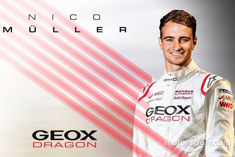 Anúncio de Nico Muller pela Dragon Racing