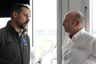 Dr. Florian Kamelger, fondatore e proprietario AF Racing AG e Team principal R-Motorsport, Vincent Vosse, Team principal Audi Sport Team WRT