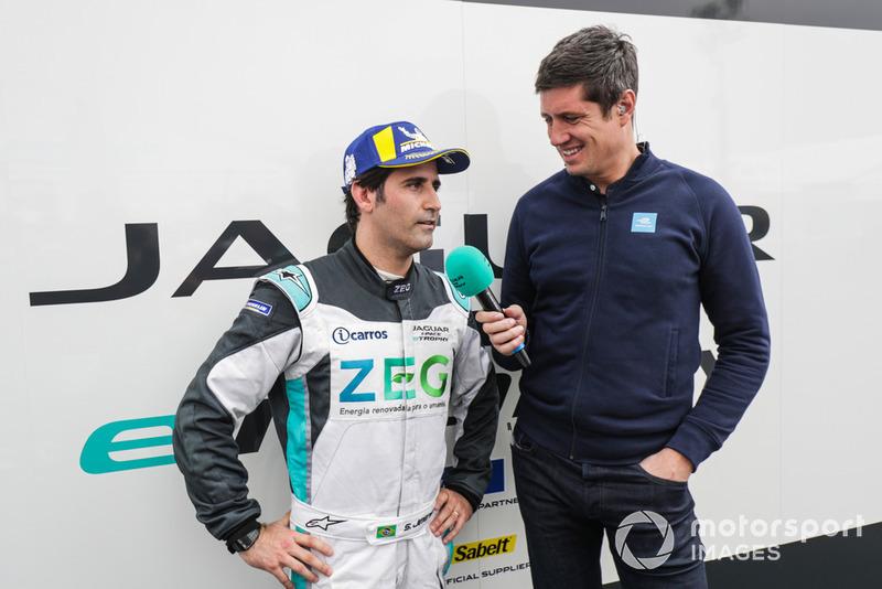 Vernon Kay con Sérgio Jimenez, Jaguar Brazil Racing