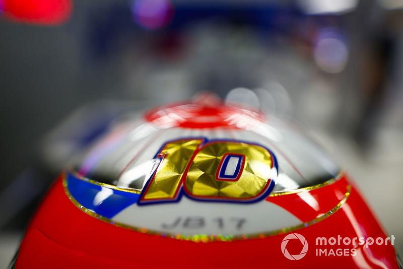El casco de Pierre Gasly, Scuderia Toro Rosso