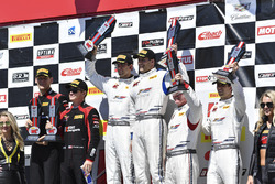 Podium: race winners Michael Cooper, Jordan Taylor, Cadillac Racing, second place Patrick Long, Jörg Bergmeister, Wright Motorsports, third place Johnny O'Connell, Ricky Taylor, Cadillac Racing