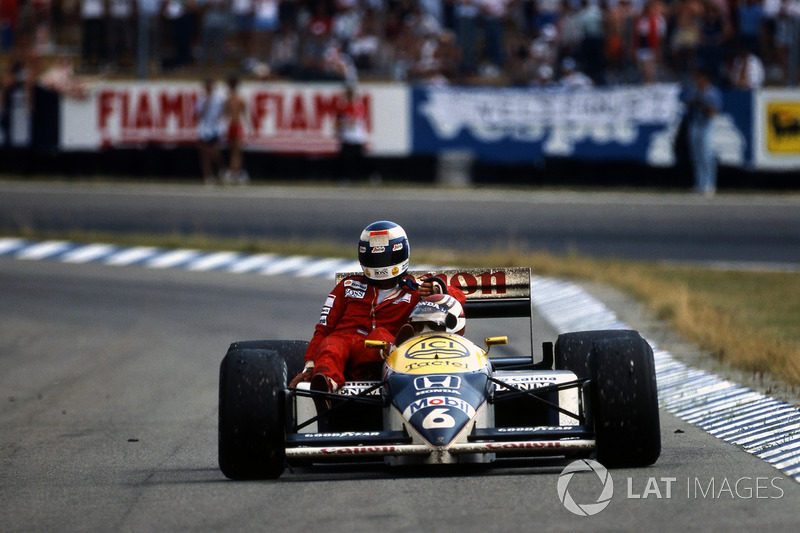 Hockenheim 1986: Nelson Piquet (Williams) - Keke Rosberg (McLaren)