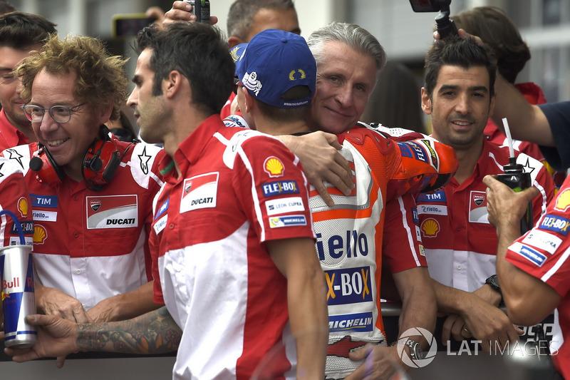 Хорхе Лоренсо, Ducati Team, Паоло Чіабатті, спортивний директор Ducati Corse, після кваліфікації