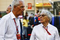Marco Tronchetti Provera, Executive Vice Chairman en Chief Executive Officer, Pirelli, Bernie Ecclestone, Chairman Emiritus van Formule 1