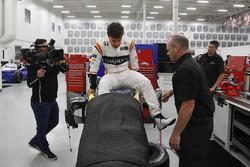 seat fitting di Fernando Alonso