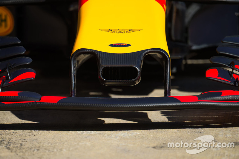 Red Bull Racing RB13 nosecone air duct detail
